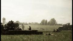 Vintage shots second world war, reconstruction. Soviet, Germanᅠ , click for HD Stock Footage
