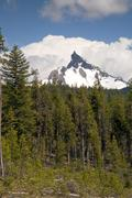 Big cowhorn mt. thielsen extinct volcano oregon cascade range mountain Stock Photos