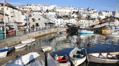 Brixham harbour Devon - stock footage