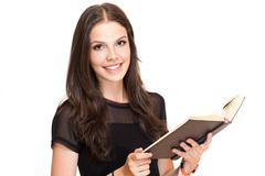 gorgeous young student girl. - stock photo