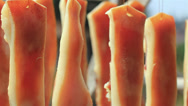 Stock Video Footage of Chinese bacon in a village