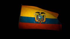 Flag Ecuador 01 Stock Footage