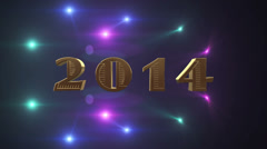 2014 Happy New Years Stock Footage