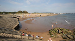 Dawlish Warren beach Devon England Stock Footage