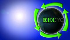 Recycle motion graphics animated energy abstract save earth planet motivation Stock Footage