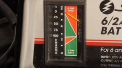 Battery charger dial Stock Footage