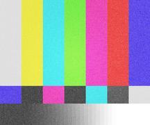 tv test screen background - stock illustration