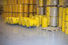 Radioactive waste disposal Stock Photos