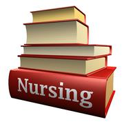 Education books - nursing Stock Illustration