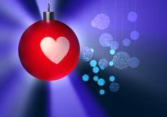 Christmas balls - Merry Christmas Stock Illustration