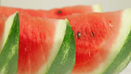 Stock Video Footage of Slices of watermelon closeup