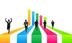 Stock Illustration of business Winner