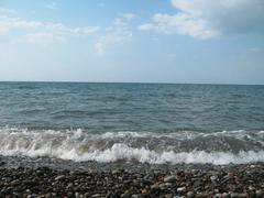 seashore of the black sea. summer journey - stock photo
