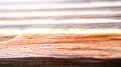 Macro shot of a plank of wood Stock Footage