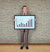 Plasma with graph Stock Photos