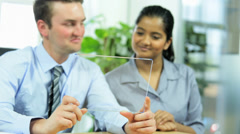 Young Business People Video Conference Call Stock Footage