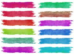 Dried paintbrush strokes Stock Illustration