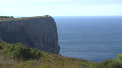 Cliff over the mediterranean sea Stock Footage