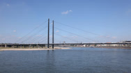Stock Video Footage of Rhein river in Dusseldorf, Germany.  time lapse