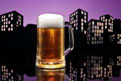 Metropolis lager beer Stock Illustration