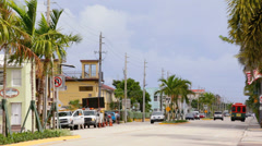 A1A Hollywood beach Stock Footage