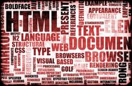 Stock Illustration of html