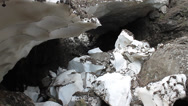 Stock Video Footage of Melting snow from glacier