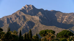 Marbella's la Concha mountain Stock Footage