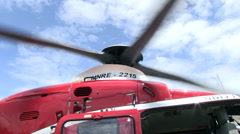 HELICOPTER ROTOR BLADES Stock Footage