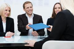 Business team conducting a job interview Stock Photos