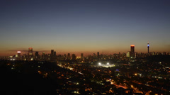 Egoli Johannesburg Gauteng  Sunset Skyline Time Lapse PAL Stock Footage