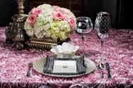 Stock Photo of wedding table setting