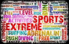 extreme sports - stock illustration