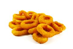 Fast food popular side dish of onion rings Stock Photos