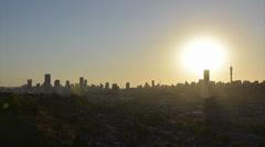 Egoli Johannesburg Gauteng  Sunset Skyline Time Lapse Full PAL Stock Footage