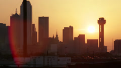 Downtown at sunset Stock Footage