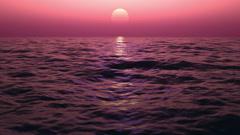 Sunrise on a rough sea, looped Stock Footage