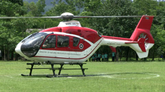 HELICOPTER LIFT TAKE OFF FLYING HOVERING Stock Footage