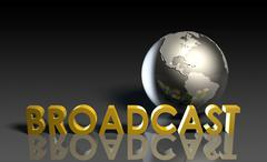 global broadcast - stock illustration