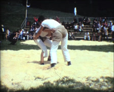 SUPER8 SWITZERLAND traditional wrestling katch - 1970 - 1 Stock Footage