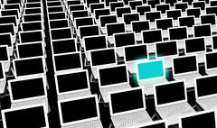 computer training - stock illustration