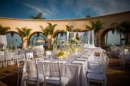 Stock Photo of beautifully decorated wedding venue