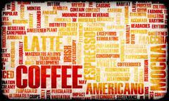 coffee selection - stock illustration