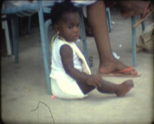 SUPER8 JAMAICA jamaican baby girl - 1979 Stock Footage