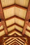 Stock Photo of timber ceiling