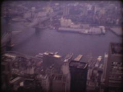 SUPER8 USA New-York view from the World Trade Center 3 - 1979 Stock Footage