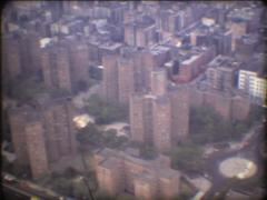 SUPER8 USA New-York view from helicopter - 1979 - stock footage