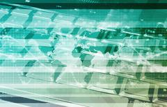 global information technology - stock illustration