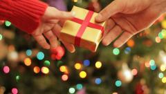 Christmas present Stock Footage