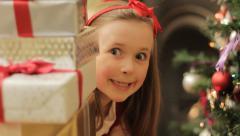 Christmas peek Stock Footage